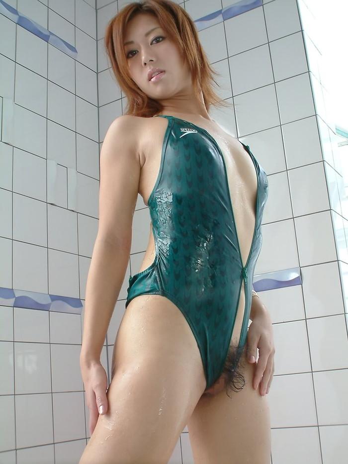 【競泳水着エロ画像】ヘタなビキニよりもよっぽどエロい競泳水着に勃起不可避! 12